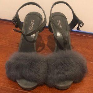 Michael Kors Faye Fur Sandals
